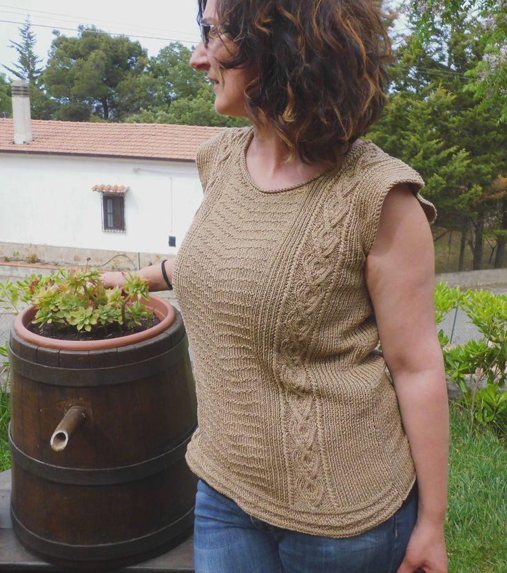 ITALA, eine schicke Strickbluse in Baumwolle. Zum Selbermachen von domoras