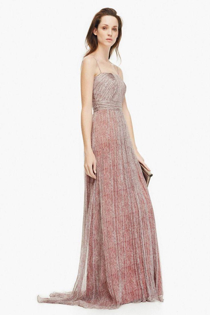 Vestido de seda con bustier plisado vestidos adolfo for Vestidos fiesta outlet adolfo dominguez