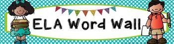 ELA Vocabulary Word Wall Banner - Polka Dots