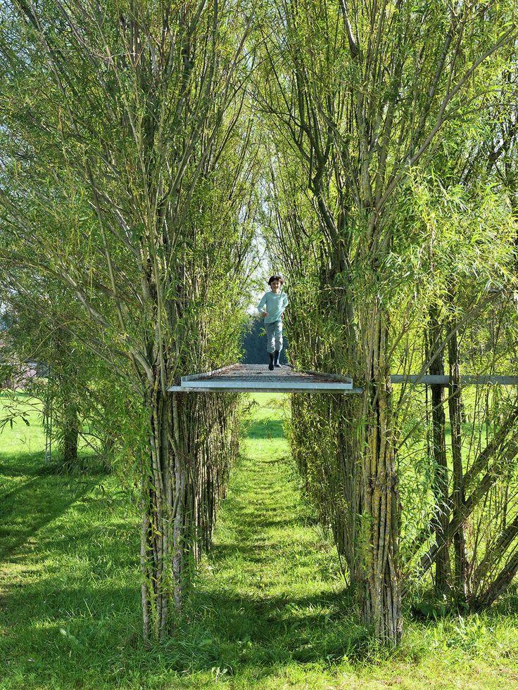 Image 1 of 8. Willow footbridge summer 2012. Image © Ferdinand Ludwig