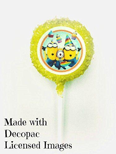 12 count MINIONS Despicable Me 2 Minion White Chocolate Covered Oreo Cookie Pops 1 Dozen Chocolate C @ niftywarehouse.com #NiftyWarehouse #DespicableMe #Movie #Minions #Movies #Minion #Animated #Kids