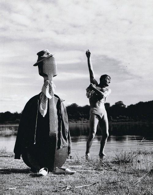 """Robert Doisneau- Maurice Baquet (1950s). """"Maurice Baquet et son violoncelle sont deux frères siamois qui se jouent de la musique"""" , Jacques Prévert."""