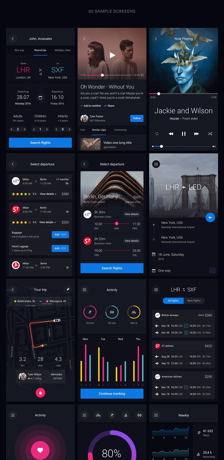 Huge set of pre-made UI elements that can help you with app design in Sketch and…