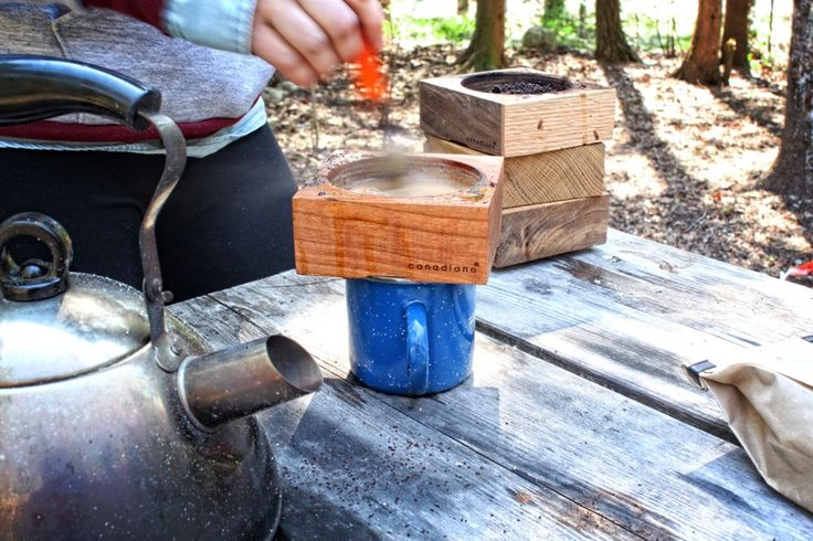 Canadiano - wooden coffee maker from Canada.