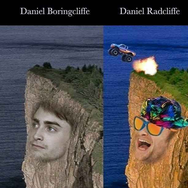 And when he addressed the Boringcliffe/Radcliffe internet meme.