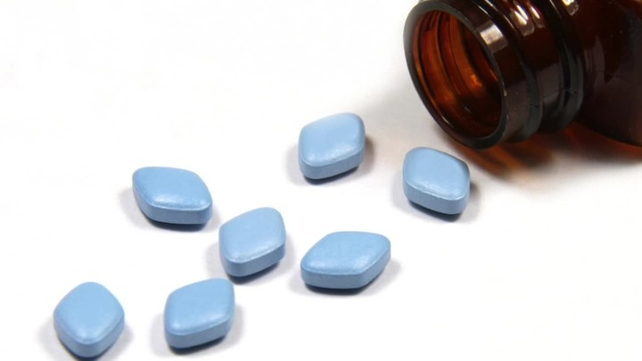 Man having sex after taking viagra