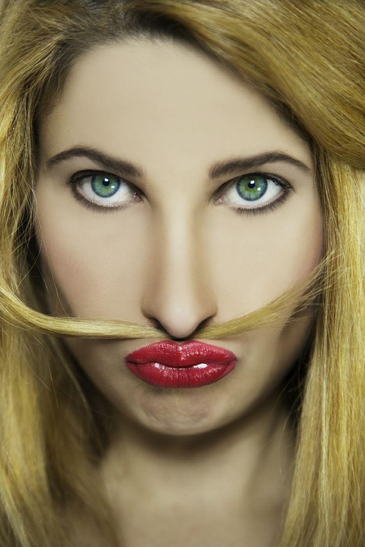 Movember, woman portrait, portraiture, moustache, beaty, style, fashion