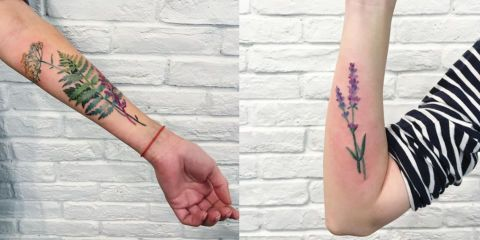 15 Photos of Tattoos Made With Real Plants and Flowers