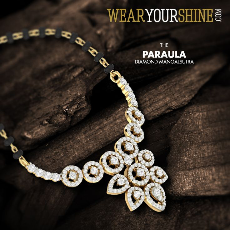 The Paraula Mangalsutra is the perfect balance between traditional and new wave. #WearYourShine #PCJeweller #India #Jewellery #Mangalsutra #Diamonds #Love #IndianJewellery #Jewelry #Happiness