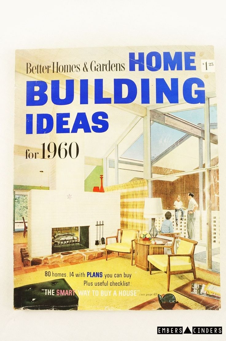 Vintage Better Homes And Gardens 1960 Building Guide With House Plans Rare Ebay