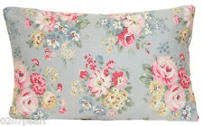Pillow Cushion Cath Kidston Fabric Dove Floral Shabby Chic Pink Grey Blue Roses