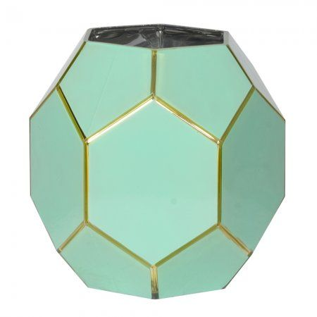 Large Green And Gold Geometric Candle Holder | Candles & Holders | Graham & Green