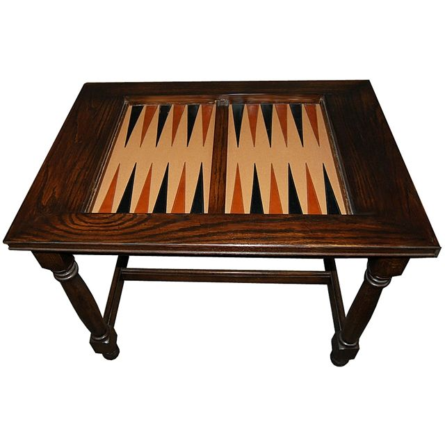 Nice 19th C. antique American Victorian carved burl wood backgammon or chess game table