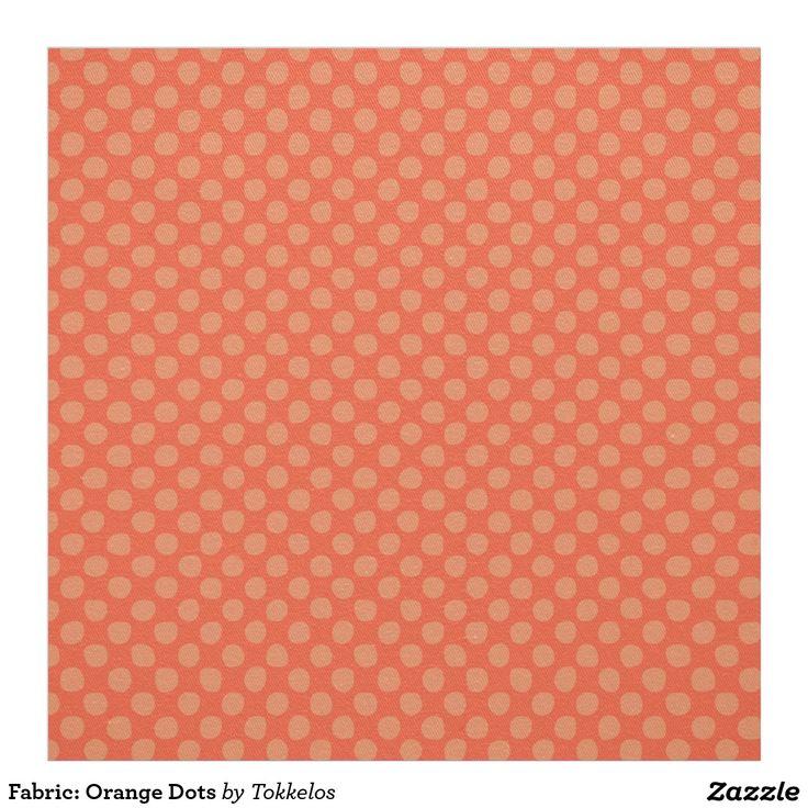 Fabric: Orange Dots