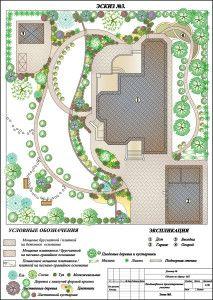 Эскиз №3 проекта ландшафтного проектирования