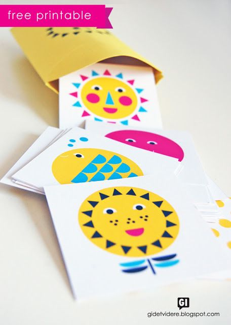 Free printable summer memory game (and a box to put it in).