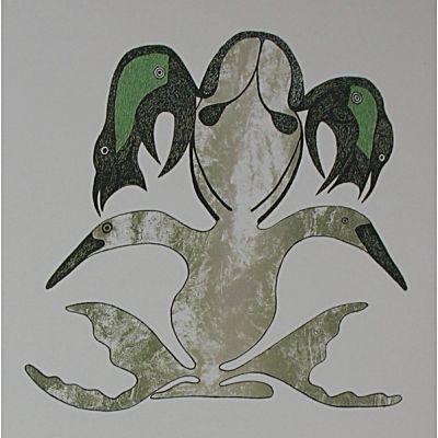 "Mayureak Ashoona  ""Vision of Birds"""
