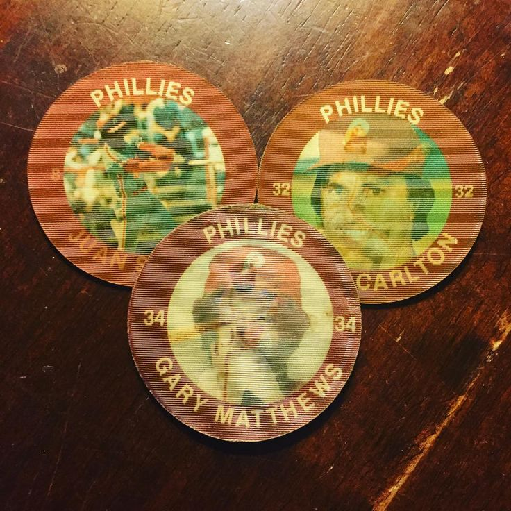 1984-1985 7-11 Slurpee Coins Juan Samuel Steve Carlton and Gary Matthews I remember getting these at 7-11 as a kid. They were under a flap in the bottom of the cup. . . . #phillies #philadelphiaphillies #711 #slurpee #1984 #1985 #coin #juansamuel #stevecarlton #garymatthews #mlb #baseball #philly #philadelphia #philliesfan #philliesnation #philliescollection