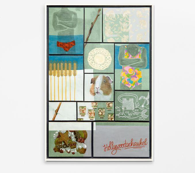 """""""Naturtrüb"""" 2015, Dani Daphne, Acryl und pastellstifte auf Holz, 94 x 136 cm"""