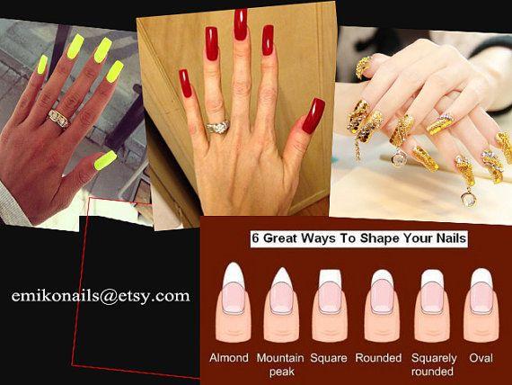 SALE False Long square nailFake Nails Natural 500pcs by emikonails
