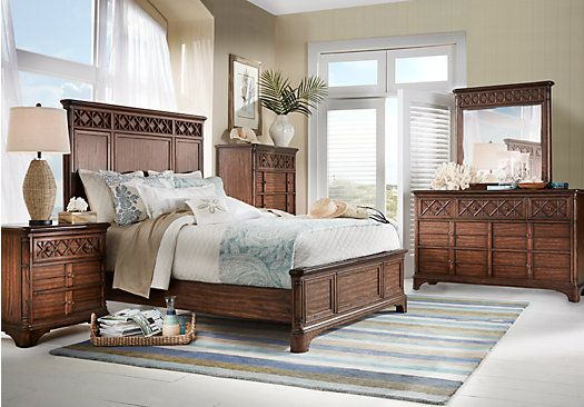 Picture Of Cindy Crawford Home Bondi Beach Brown 5 Pc King Panel Bedroom From King Bedroom Sets