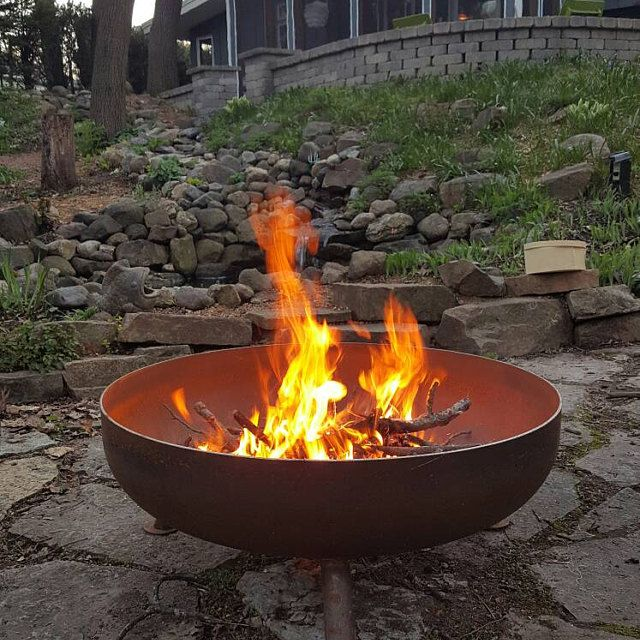 36 Steel Fire Pit Unique Shape Custom Fire Pit Outdoor Fire Pit Metal Fire Pit Fire Pit Essentials Copper Fire Pit Custom Fire Pit