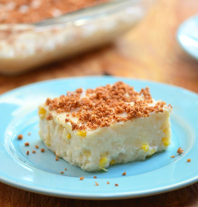Maja Blanca Espesyal...A creamy coconut pudding made extra special by sweet corn kernels and topped with coconut milk curds