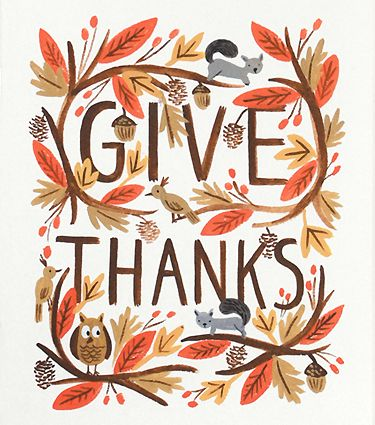 It seems as though everyone's minds jump from Halloween to Christmas...but I'm just getting amped up for Thanksgiving! Give Thanks!! :):