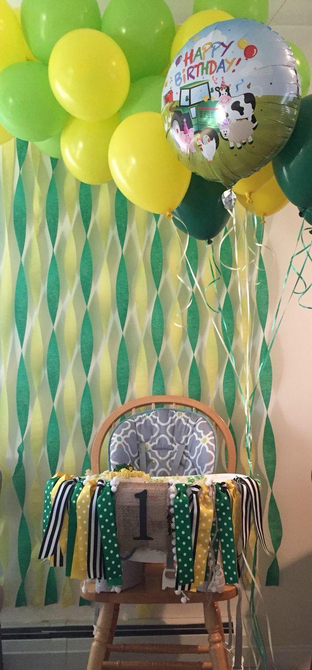 John Deere tractor theme birthday party decoration