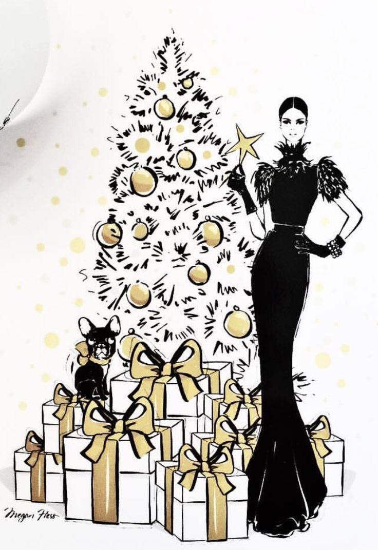 Merry Christmas!⚜️Megan Hess| Be Inspirational❥|Mz. Manerz: Being well dressed is a beautiful form of confidence, happiness & politeness