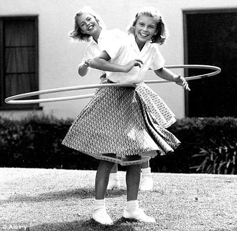1950s Hula Hoop fad. The hoop gained international popularity in the late 1950s when a plastic version was successfully marketed by California's Wham-O Toy Company.  jj