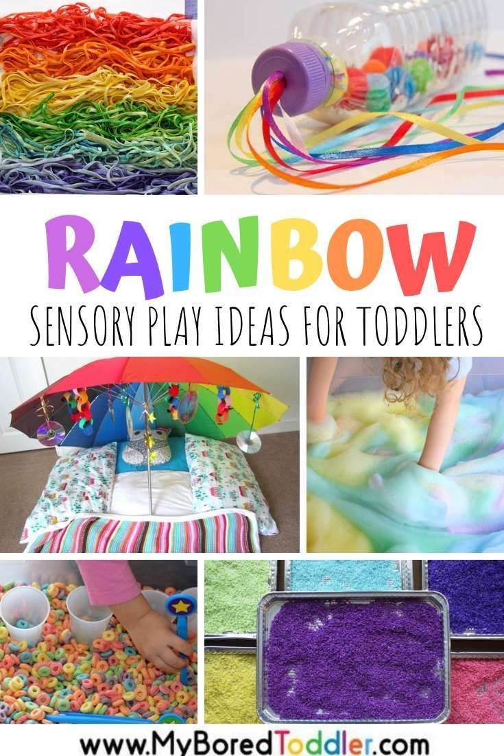 Rainbow Sensory Play Ideas For Toddlers Baby Sensory Play Sensory Games Toddler Sensory