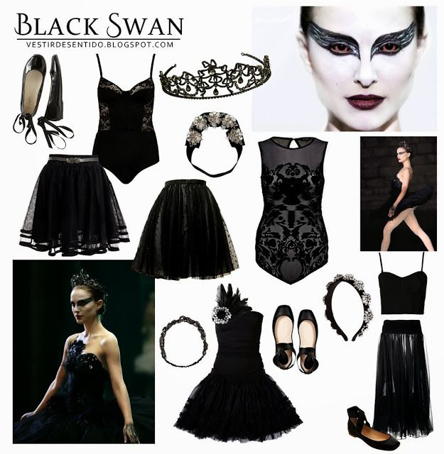 DIY Halloween Costume - Black Swan