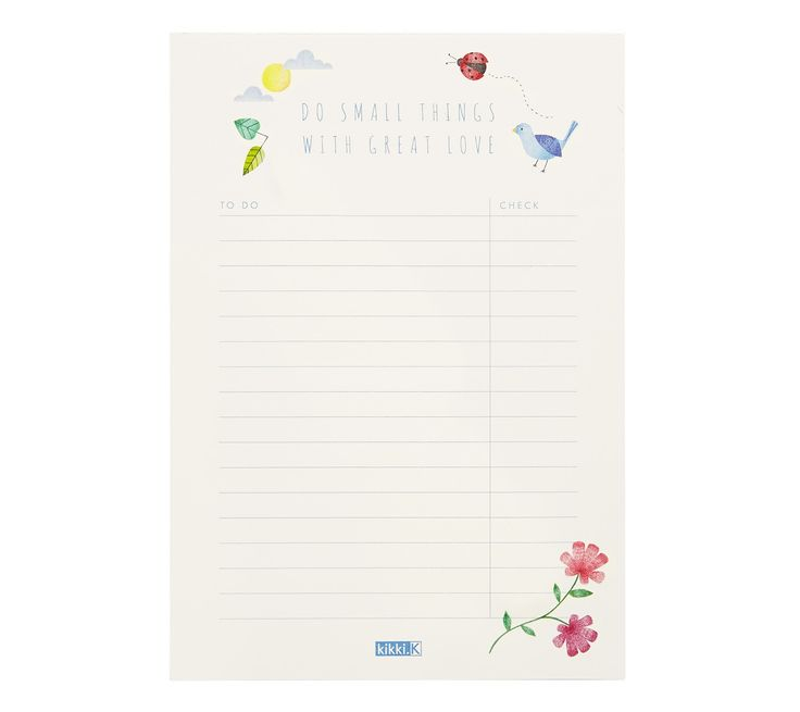 Make each and every day more organised with this To Do List pad, which is perfect for placing on your desk or using in your planner.