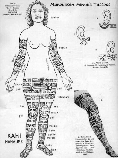 Tattoo History - Marquesas Tattoo Images - History of Tattoos and Tattooing Worldwide