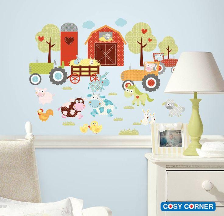Μετατρέψτε το παιδικό δωμάτιο σε μια φάρμα με την υπέροχη συλλογή από αυτοκόλλητα τοίχου με τα πολύχρωμα και αγαπημένα ζωάκια αγροκτήματος. Δεν θα θέλει το παιδί σας να φεύγει από το δωμάτιο του! http://goo.gl/LzjRhN