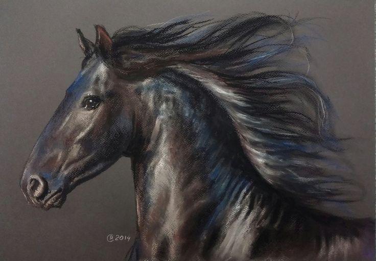 Friesian By Pastelizator Deviantart Com On Deviantart Paard Tekeningen Mooie Paarden Fries