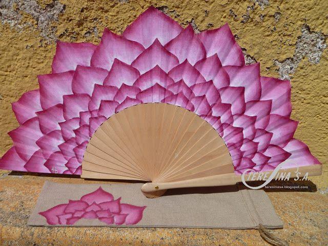 Abanico pintado a mano - hand paintet spanish fan - vano pintat a mà