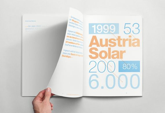 An annual report whose content is only revealed under sunlight has won Best in Show at the One Show Design awards in New York. The annual report was created by Munich-based agency Serviceplan for solar energy supplier Austria Solar. The pages were printed in light sensitive ink so that the content becomes visible under sunlight.