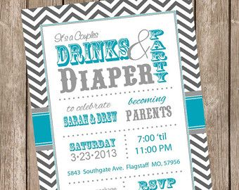 Couples Baby Shower Invitation Co-ed Baby Shower Invite