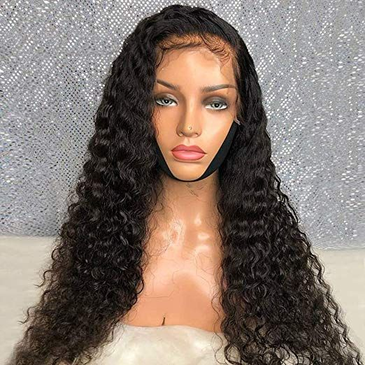 sells great look most popular Amazon.com : Loose Curly Human Hair Lace Frontal Wigs 150 ...