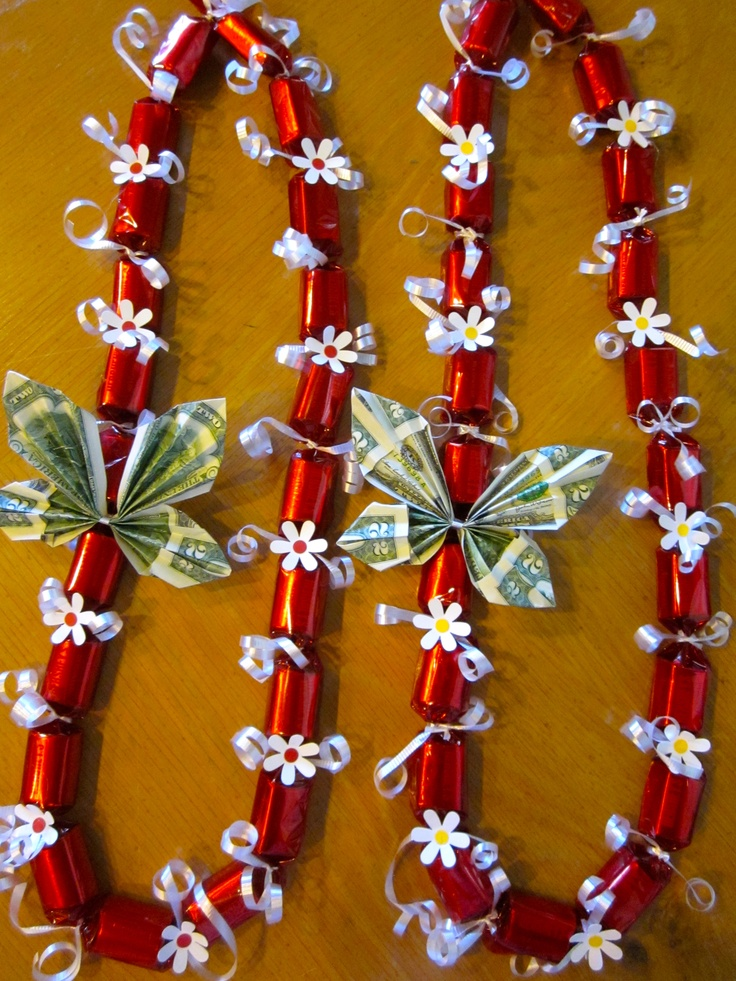 Hershey Nuggets Candy Lei; made one with godiva chocolate ...