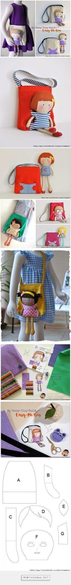 Esta divertida bolsa está diseñada para traer siempre a su lado a su inseparable amiga. #bolsa #proyecto #costura #manualidadesinfantiles