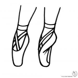 Disegno di Scarpe Ballerina da colorare