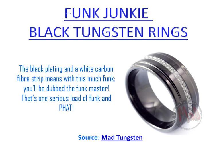 A beautiful man ring by Mad Tungsten - Funk junkie black tungsten ring.
