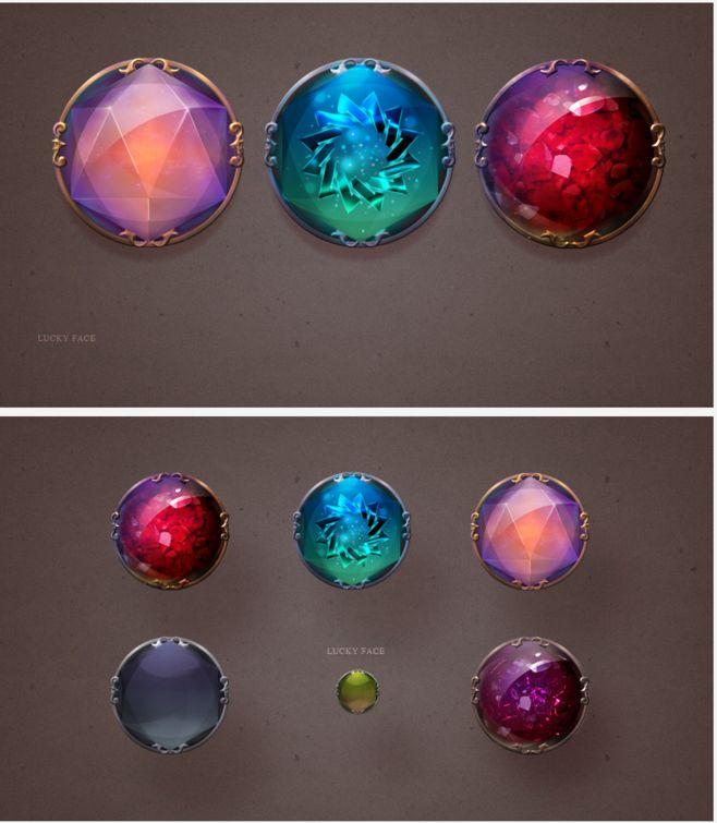 游戏UI 魔法 水晶 按钮-UI中国-专...@木了个瓜采集到游戏UI(33图)_花瓣UI/UX