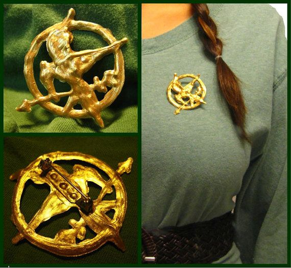 Hunger Games Inspired Katniss Mockingjay Pin by youngatheart86, $6.50