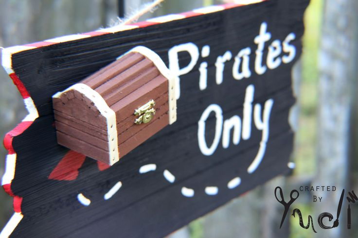 A personal favorite from my Etsy shop https://www.etsy.com/listing/255586411/pirate-party-supplies-pirate-wooden-door