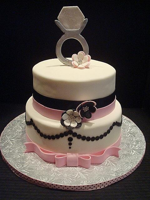 30 best bridal shower cakes images on pinterest cake wedding fondant cakes and anniversary cakes. Black Bedroom Furniture Sets. Home Design Ideas
