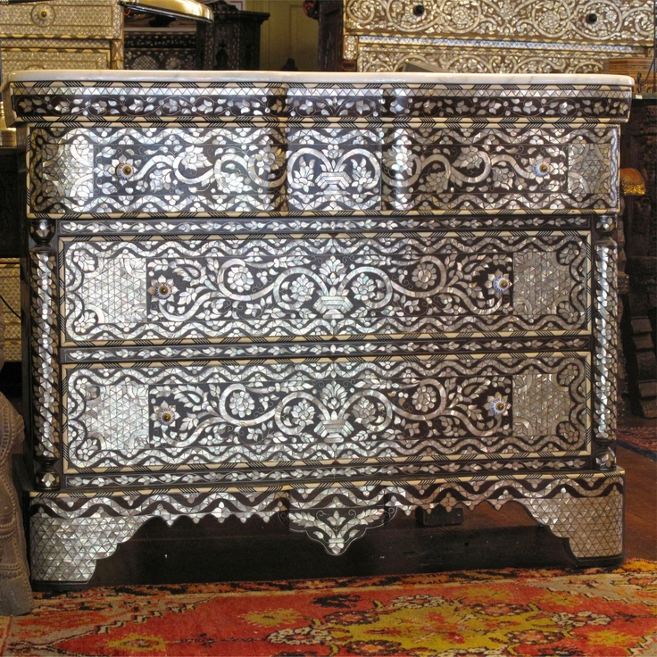 Syrian Mother Of Pearl Bridal Chest For The Home